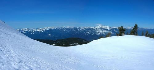 Panorama of the Trinity Alps