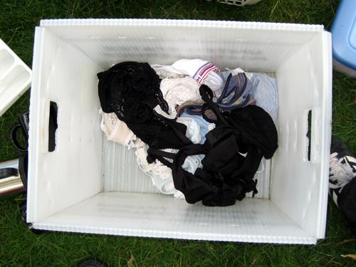 Box of forlorn lingerie
