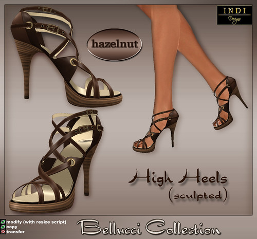 Bellucci High Heels-hazelnut