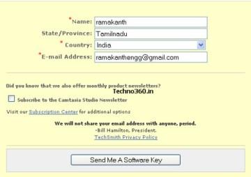 camtasia license keys