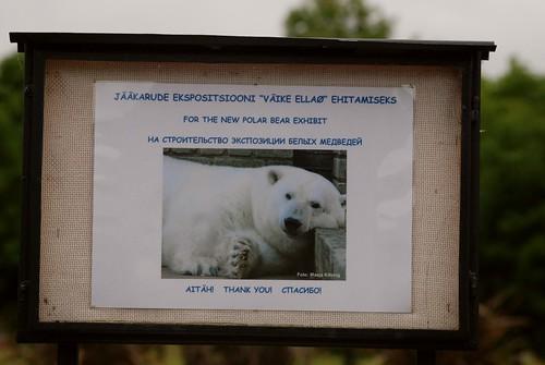Spendenaufruf im Zoo Tallinn