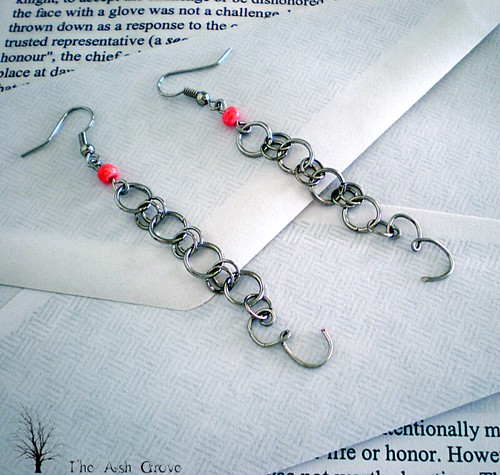 Chain Letter Earrings