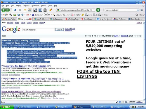 Move to Frederick 3_28_09 on Google