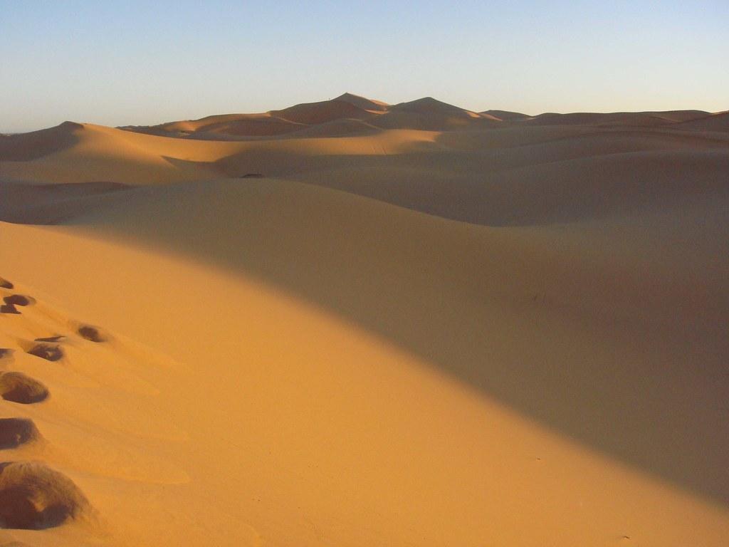 Campo de dunas, cercano a Merzouga