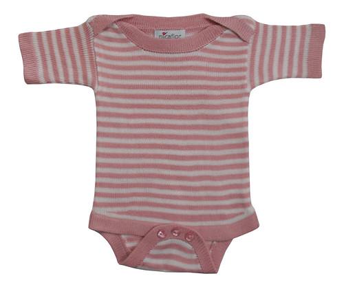 short sleeve onesie pink blush