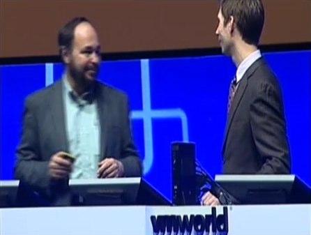 Paul Maritz, CEO VMware, and Joe Arnold demonstrating Engine Yard Solo at VMWorld Europe 2009