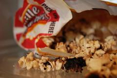 burnt popcorn