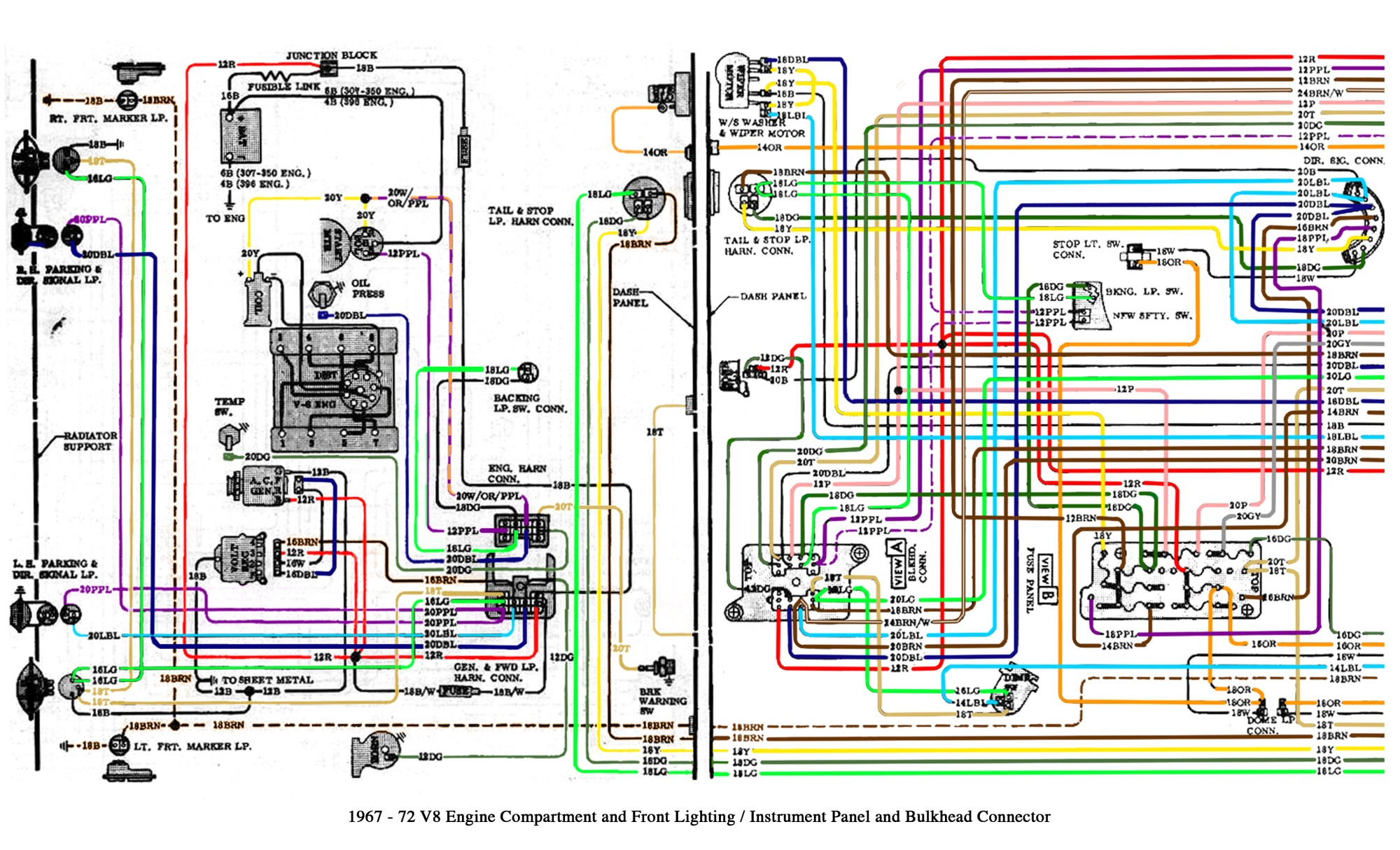hight resolution of color wiring diagram finished the 1947 present chevrolet gmc 1972 chevy truck wiring diagram 1972 chevy pickup wiring diagram