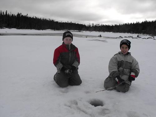 Bradley & Nathan Ice Fishing!
