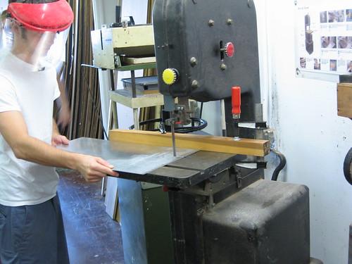 Cutting using bandsaw