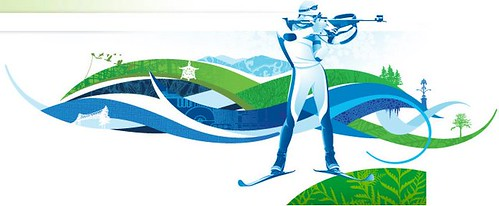 The beautiful 2010 Olympics biathlon logo.