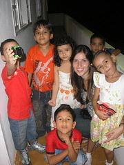 Larissa with Kids