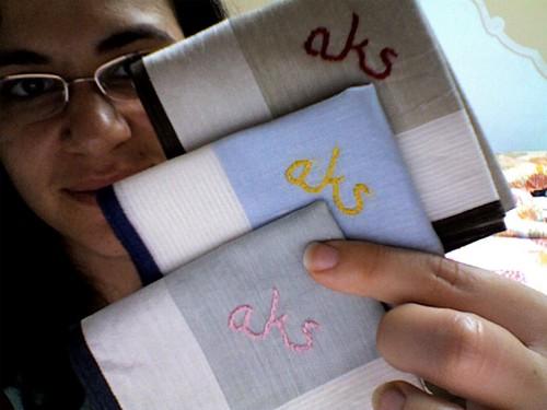 Monogramed Hankies for Mom