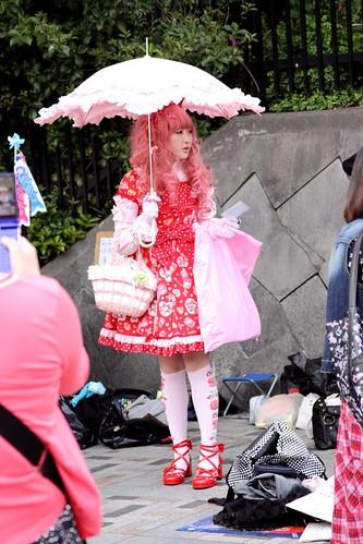 Harajuku Girl with umbrella