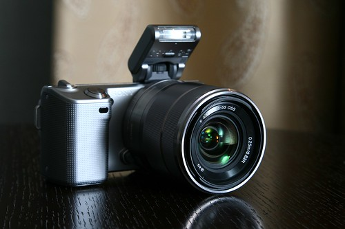 NEX-5 with flash