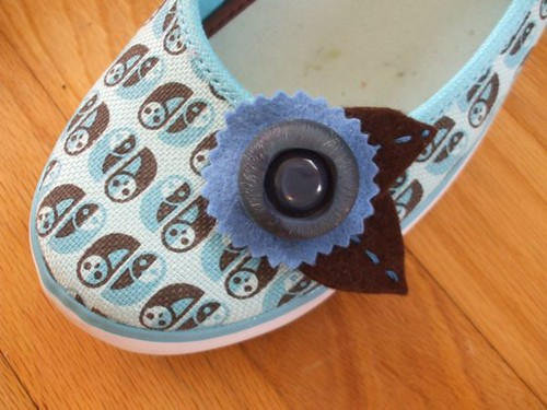button shoe embellishments for CraftStylish this week