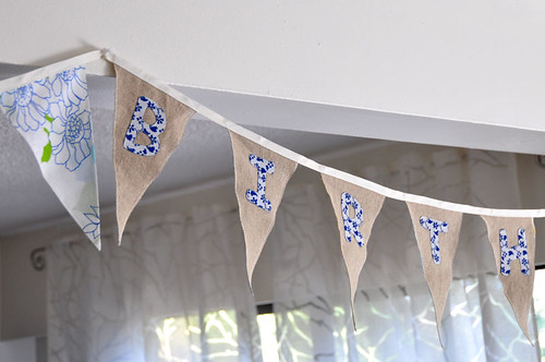 Fabric Birthday Bunting by you.