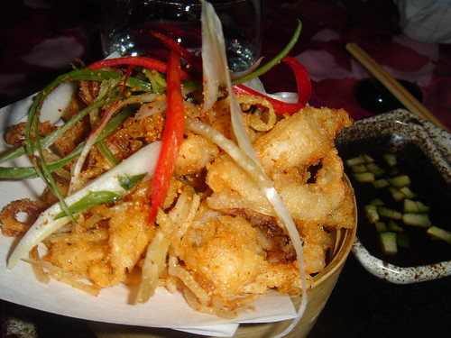 Salt & seven pepper squid with Thai sweet chilli
