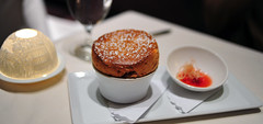 7th Course: Strawberry-Rhubarb Souffle