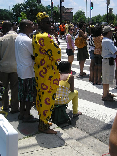 Parade spectator at the 2009 Caribbean Festival