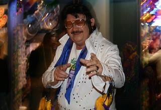 Elvis Impersonator Mardia Gras, Bourbon Street