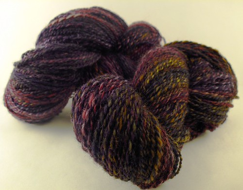 Superwash BFL, handdyed by Allspunup