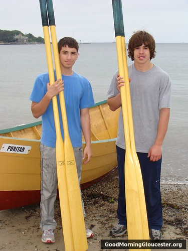 LJ Robertson and Randy Parisi, Winners International Dory Race Eliminations