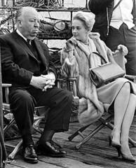 Alfred Hitchcock & Tippi Hedren on set of The ...