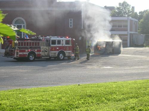 Dumpster Fire @ Raymond Elementary School