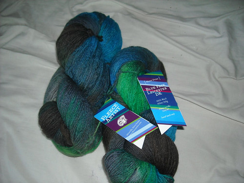 Fleece Arist BFL Dk weight in Sea Storm 900 yards worth