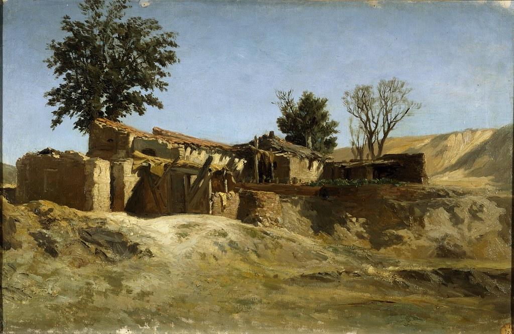 Carlos de Haes (Brussels, 1826-Madrid, 1898) Tejares de la montaña del Príncipe Pío (c. 1872) Oil on canvas. 39.2 x 61 cm. Museo Nacional del Prado, Madrid.