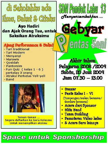 promosi pentas seni by you.