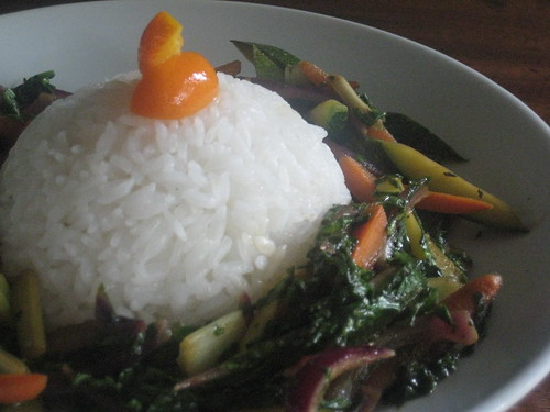Jasmine Rice, Kumquats, Mixed Vegetables