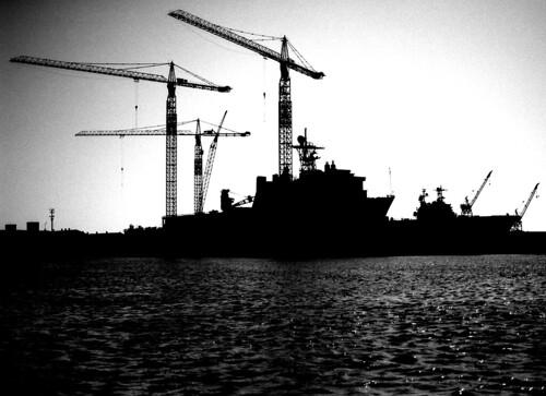 Shipyard. (Ilford Delta 100. Nikon F100. Epson V500.)