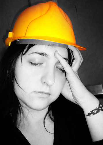(115/365) Hard day, hard hat by Sarah G....