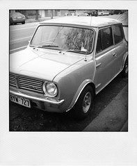 Mr. Bean's car (B&W)