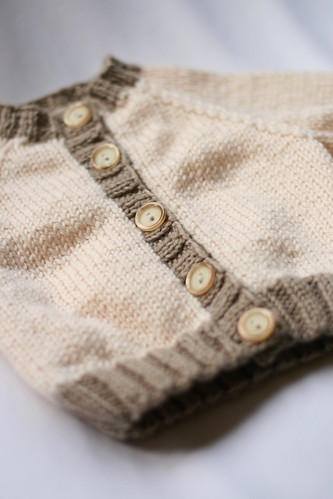 Raglan Baby Cardigan by Debbie Bliss