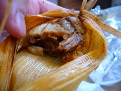 Mole Chicken Tamale