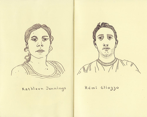 Portrait party: Remi's moleskine