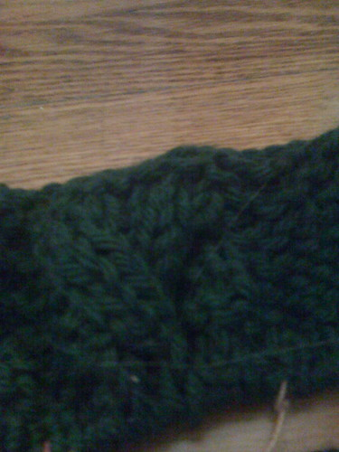 Bulky Cabled Cardigan (detail)