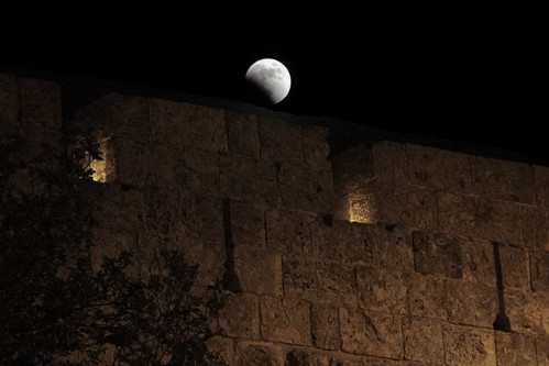 Eclipse over Old City Wall