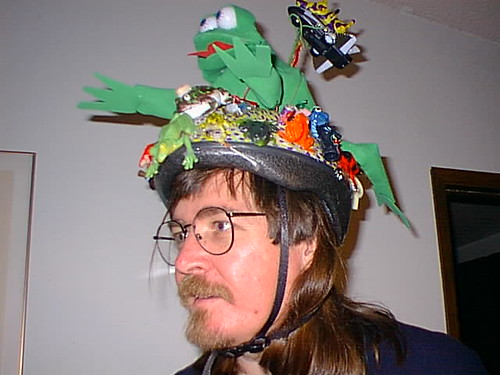 My beautiful but criminally insane daughter Margaret 47 Sharp made me this 47th birthday helmet.
