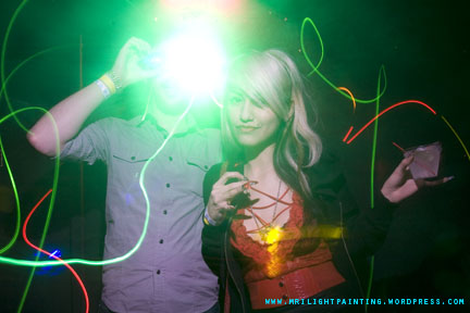 MRI Lightpainting - Lightface and his friend Glowstickcleavage