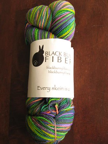 Black Bunny Fibers Merino in Patchwork