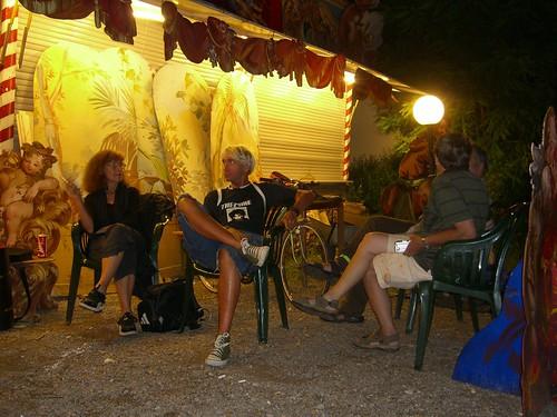 BesetzerInnen-Camp in der ersten Nacht