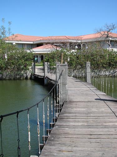 The bridge to the pavilion