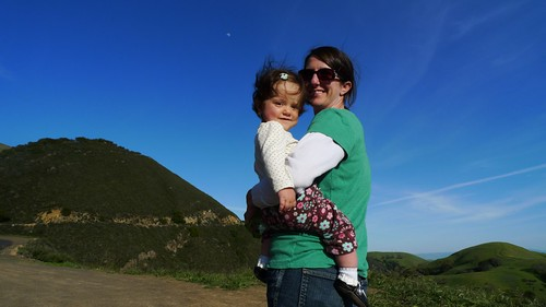 Happy little camper and mama in Mt Diablo state park