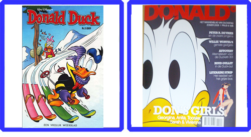 Donald Duck Weekblad vs, Donald Glossy