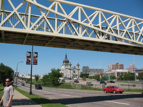 Basilica and Loring Park pedestrian bridge
