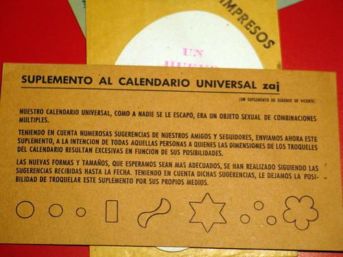 Calendario Universal Zaj